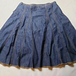 GAP Denim Skirt Blue Jean Size 6 Panel Swing